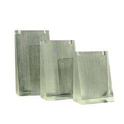 Organic Glass Necklace Displays Sets, White, 59x29~30x85~115mm(NDIS-E006-5A)