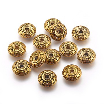 CCB Plastic Beads, Disc, Antique Golden, 18x6.5mm, Hole: 4mm(CCB-P005-031AG)