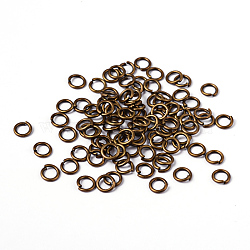 90pcs Antique Bronze Brass Jump Rings, Close but Unsoldered, 18 Gauge, 6x1mm; Inner Diameter: 4mm; about 90pcs/10g(X-JRC6MM-AB)