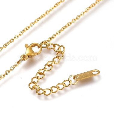 304 Stainless Steel Initial Pendant Necklaces(NJEW-I240-06)-4