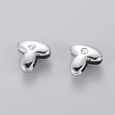 Alloy Rhinestone Initial Letter.T Slide Charms Fit DIY Wristbands & Bracelets(X-ZP2T-NLF)-2