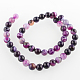 Natural Gemstone Agate Round Bead Strands(G-E233-02)-2