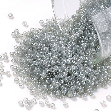TOHO Round Seed Beads, Japanese Seed Beads, (150) Ceylon Smoke, 15/0, 1.5mm, Hole: 0.7mm, about 3000pcs/10g(X-SEED-TR15-0150)