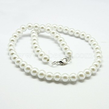 White Glass Necklaces