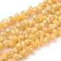 естественно спиральные стеклянные бусы пряди, окрашенный, золотарник, 5~6x4~5x3~3.5 mm, отверстия: 0.8~1 mm; о 381~443 шт / прядь, 35.83 36.81 см)