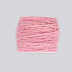 corde de chanvre, chaîne de chanvre, ficelle de chanvre, pour la fabrication de bijoux, rose, 2 mm; 50 m / rouleau(OCOR-WH0002-A-11)