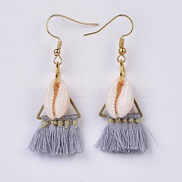 Gray Polyester Earrings