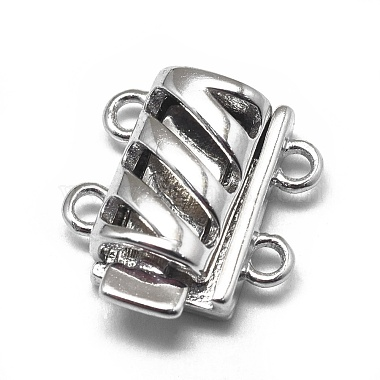 Platinum Rectangle Sterling Silver Box Clasps