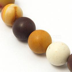 """Chapelets de perles en mookaite naturelles, mat, rond, colorées, environ 8 mm de diamètre, Trou: 1mm, Environ 46 pcs/chapelet, 15.3""""(G-I004-8mm-01)"""