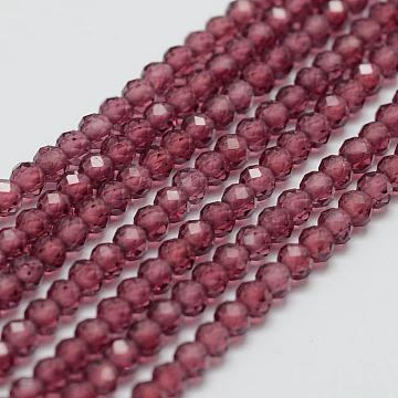 3mm Round Garnet Beads