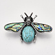 Synthetic Turquoise Broochs/Pendants(G-S353-08G)-2