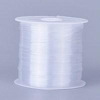 0.6 blanche mm ton perles fil de nylon fil de ligne de pêche, taille: environ 0.6 mm de diamètre, environ 21.87 yards(20m)/rouleau