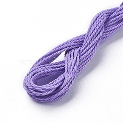 cordon de polyester ciré, Mediumpurple, 1 mm; sur 8.96~9 m / rouleau(YC-WH0005-04)