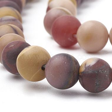 Chapelets de perles en mokaite naturel(G-T106-158)-2