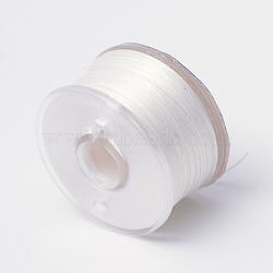 Fils de perles en polyester enduit spécial pour perles de rocaille, linge, 0.1 mm; environ 50 mètres / rouleau(OCOR-R038-02)