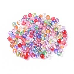 perles de lampwork tchèque, arrondir, couleur mélangée, 6 mm, trou: 0.9 mm(X-LAMP-D180-01-6mm)