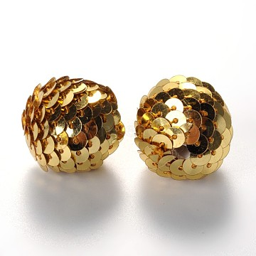 22mm Gold Oval Other Woven Beads Beads