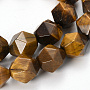 """Natural Tiger Eye Beads Strands, Faceted, Nuggets, 8~8.5x7.5x7.5mm, Hole: 1.5mm; about 46pcs/strand; 14.56"""""""