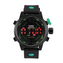 Мода пластиковые мужские наручные часы электронные, зелёные, 270x22 мм(WACH-I005-01C)