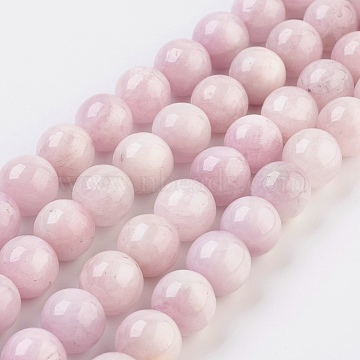 10mm Pink Round Kunzite Beads
