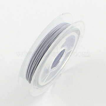 Tiger Tail Wire, Nylon-coated Steel, WhiteSmoke, 0.45mm, about 32.8 Feet(10m)/roll(X-TWIR-S001-0.45mm-05)