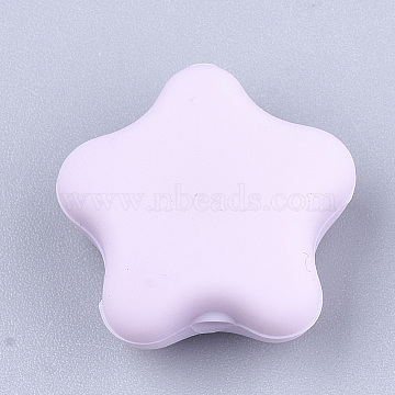 17mm Lilac Star Silicone Beads