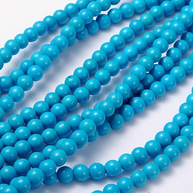6mm Turquoise Round Howlite Beads