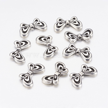 17mm Butterfly Alloy Beads