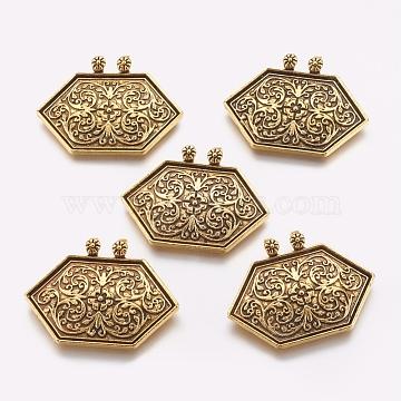Antique Golden Hexagon Alloy Pendants