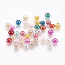 Cabochons en plastique ABS d'imitation nacre, demi-rond, couleur mixte, 4x2 mm; environ 540 pcs / 10 g(X-SACR-S738-4mm-M)