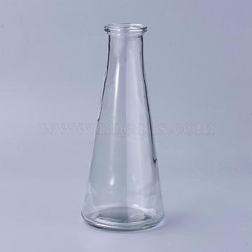 Transparent Glass Drink Bottles, for Storing Juices, Beverages, Tea, Clear, 18.8x7.95cm, hole: 2.85cm; Capacity: 320ml(10.82 fl. oz)(X-AJEW-WH0096-22)