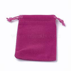 Pochettes rectangle en velours, sacs-cadeaux, camélia, 15x12 cm(X-TP-R022-12x15-05)