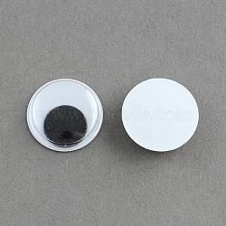 Bancal cabochons en plastique de l'oeil, noir, 13x3mm(X-KY-S002-13mm)