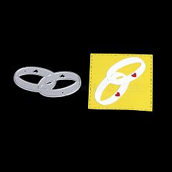 Amant doigt cadre de coupe en acier au carbone meurt pochoirs, pour bricolage scrapbooking / album photo, carte de papier de bricolage décoratif, mat platine, 2.6x5.4 cm(DIY-F036-13)