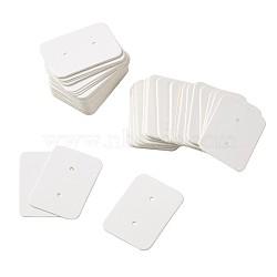 Bijoux boucle d'oreille affichage étiquettes de prix de papier kraft, rectangle, blanc, 35x25x0.5mm(CDIS-TAC0001-02C)