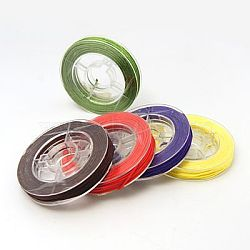 Nylon Thread for Jewelry Making, Mixed Color, 0.8mm; about 7~9m/roll(NWIR-N001-0.8mm-M)