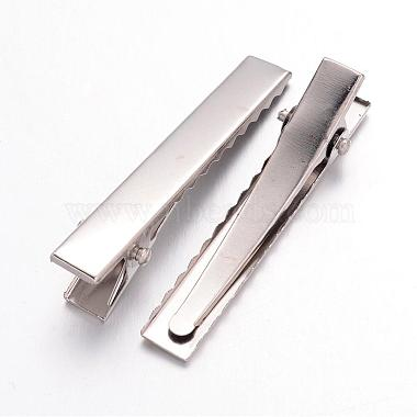 Iron Flat Alligator Hair Clip Findings(IFIN-S286-46mm)-2