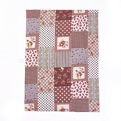 A4 autocollant de tissu auto-adhésif, enfants bricolage artisanat, motif de fleur, colorées, 29x21x0.05 cm(AJEW-WH0096-78B)