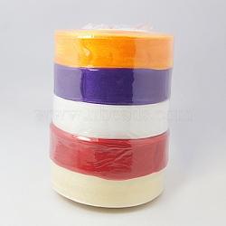"""Ruban organza pure, large ruban de décoration de mariage, couleur mixte, 1"""" (25 mm), 250yards (228.6m)(ORIB-RS25mmY)"""