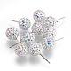 Sterling Silver Austrian Crystal Rhinestone Ball Stud Earrings for Girl(Q286H021)-1