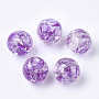 Resin Beads, Imitation Amber, Round, Dark Orchid, 10mm, Hole: 2mm
