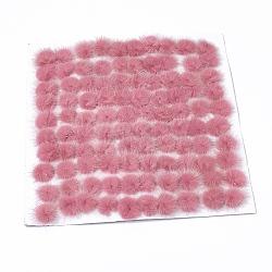 Décoration de boule de fourrure de vison faux, boule de pom pom, pour bricolage, palevioletred, 2~2.5 cm(X-FIND-S267-2.5cm-09)