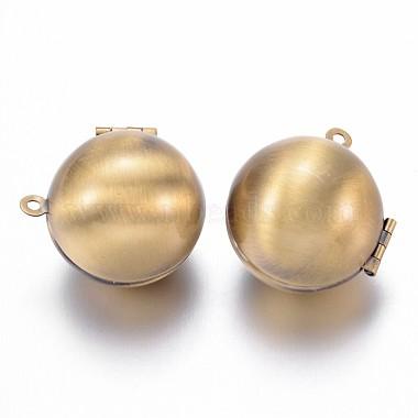 Antique Bronze Round Brass Pendants