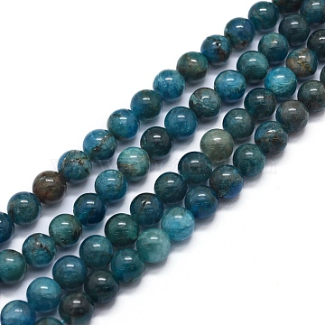 Natural Apatite Beads Strands, Round, 8mm, Hole: 0.8mm; about 50pcs/strand, 15.7 inches(40cm)(X-G-F591-01)