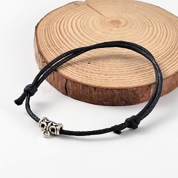 Black Wax Cord Bracelets