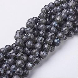 Natural Labradorite Beads Strand, Round, about 8mm, Hole: 1mm; about 47~49pcs/strand, 15.5inches(GSR8mmC128)