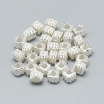 Silver Cube Sterling Silver Beads