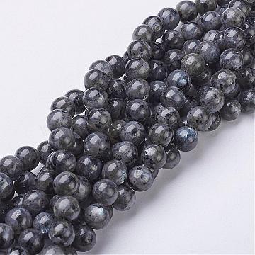 8mm Gray Round Labradorite Beads