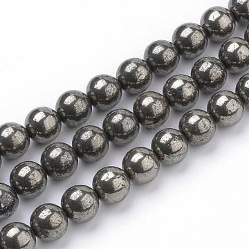 10mm Round Pyrite Beads