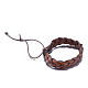Adjustable Casual Unisex Braided Leather Bracelets(BJEW-BB15584)-4